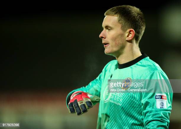 Shrewsbury Town's Dean Henderson during the Sky Bet League One match between Fleetwood Town and Shrewsbury Town at Highbury Stadium on February 13...