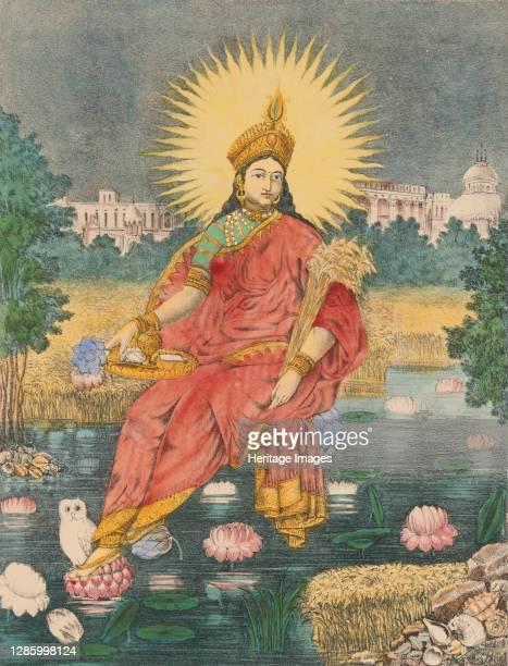 Shri Shri Lakshmi, circa 1880. Artist Unknown.