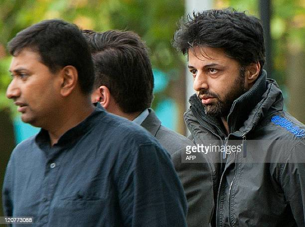 Shrien Dewani arrives at Belmarsh Magistrates' Court sitting at Woolwich Crown Court in south London on August 10 ahead of an expected judgement...