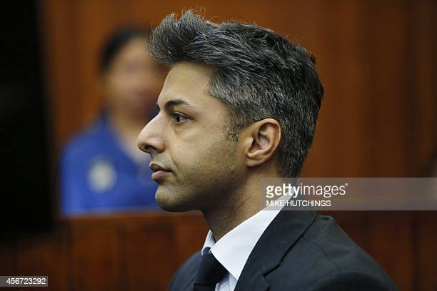 Shrien Dewani British murder accused sits in the Cape Town High Court waiting for his trial to start on October 06 in Cape Town Dewani stands accused...