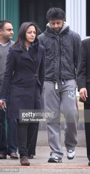Shrien Dewani leaves Belmarsh Magistrates Court with family members on March 15 2011 in London England Mr Dewani has been granted a bail extension on...