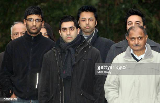 Shrien Dewani poses for a photograph with his family at the family home on December 11 2010 in Bristol England Shrien Dewani was granted bail today...