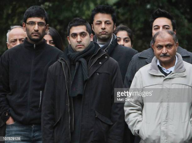 Shrien Dewani poses for a photograph with his family at their family home on December 11 2010 in Bristol England Shrien Dewani was granted bail today...