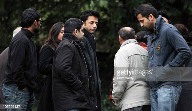 Shrien Dewani walks away after he posed for a photograph with his family at their family home on December 11 2010 in Bristol England Shrien Dewani...