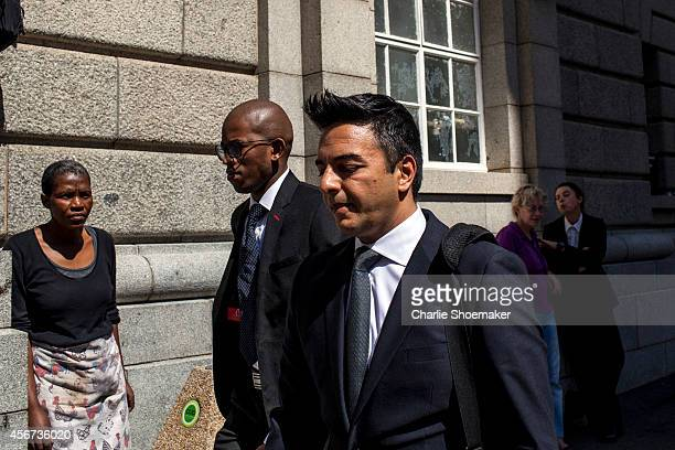 Shrien Dewani's brother Preyen Dewani arrives back at the Western Cape High Court after a lunch break on the the start of the trial of Shrien Dewani...