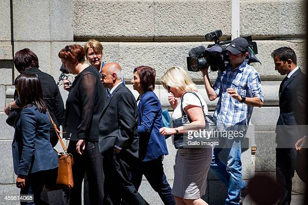 Shrien Dewani's parents Snila and Prakash Dewani arrive at the Western Cape High Court on November 24 2014 in Cape Town South Africa Dewani is...