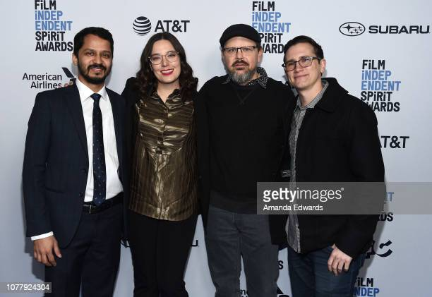 Shrihari Sathe Gabrielle Nadig Kelly Williams and Jonathan Duffy attends the 2019 Film Independent Spirit Awards nominee brunch at BOA Steakhouse on...