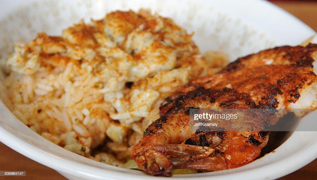 Shrimp and Blu Crab Beginning : Stock Photo