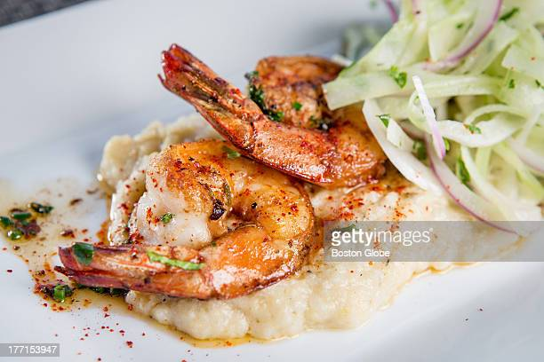Shrimp and grits at Sam's at Louis in Boston