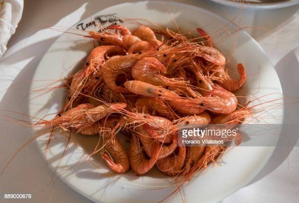 Shrimp at lunch in Restaurante Tony Angeiras beach during the visit by participants of Gastronomic FAM Tour on December 02 2017 in Matosinhos...