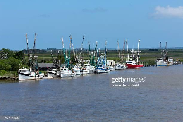 Shrimp Boat Fleet in Darien, Georgia