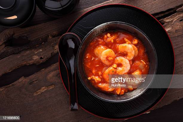 shrimp chili sauce,dishes image - runphoto ストックフォトと画像