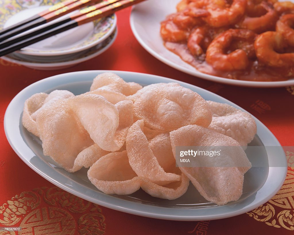 Shrimp Chips : Stock Photo