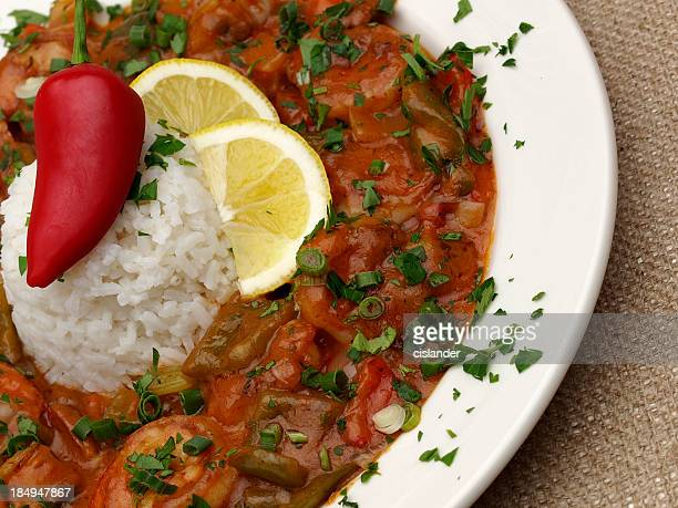 shrimp etouffee - creole culture stock pictures, royalty-free photos & images