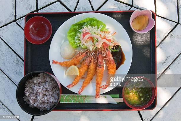 Shrimp Lunch Tray at Taketomi-jima Island Cafe in Japan's Okinawa Prefecture