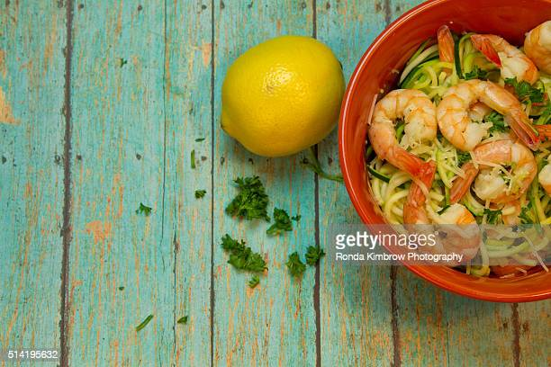 Shrimp meal with spiralized zucchini