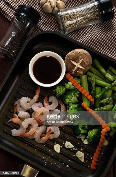 Shrimp ready to fried