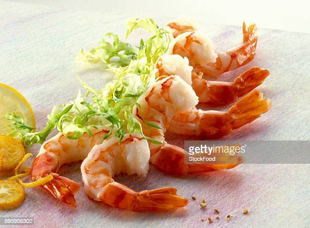 Shrimp tails and frisee