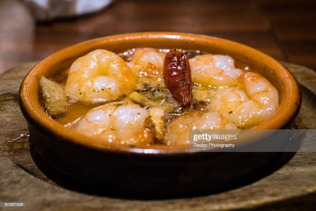 shrimps al ajillo : ストックフォト