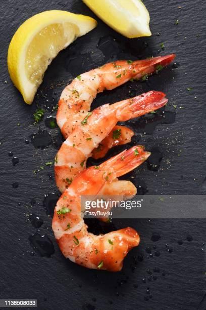 Crevettes et citron