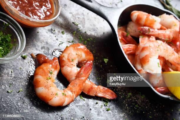 Crevettes et assaisonnement