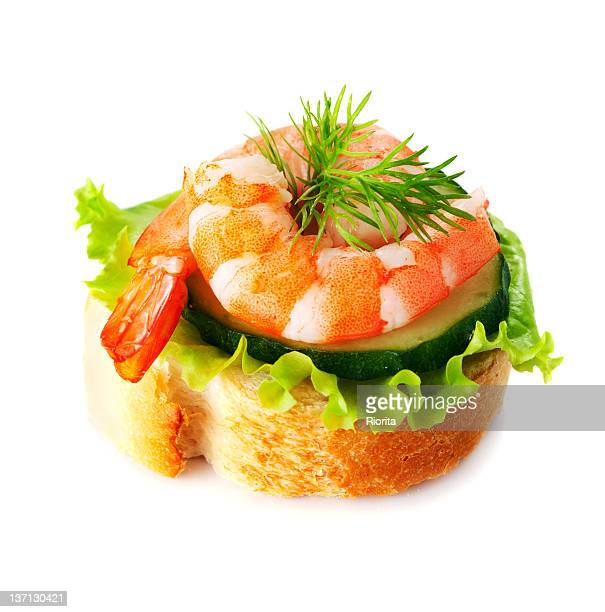 Shrimps canape