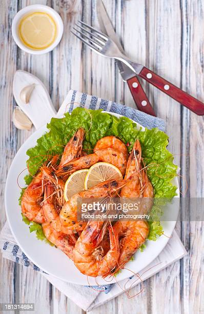 Shrimps in a plate