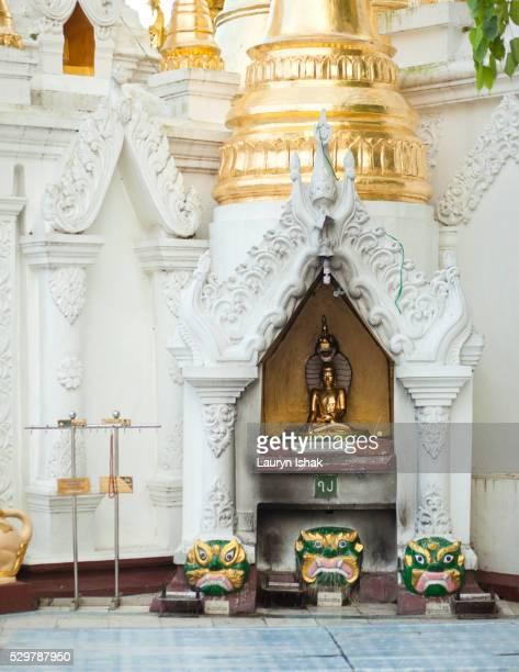 Shrine at Shwedagon Pagoda, Yangon, Myanmar