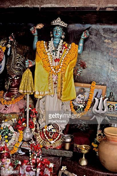 Shrine beside Hooghly river Kolkata West Bengal India