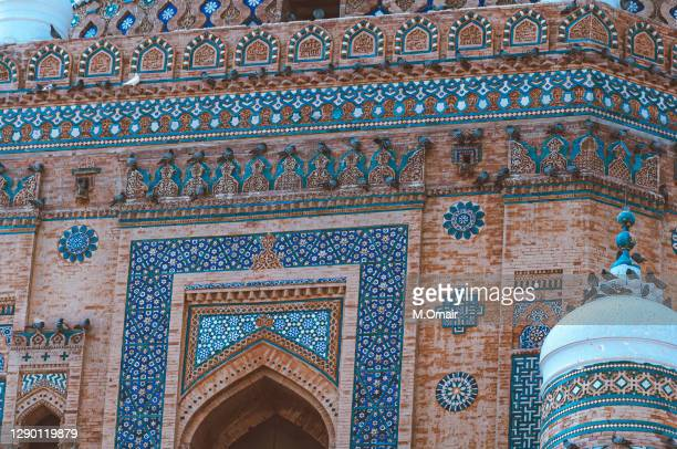 shrine details of shah rukn-i-alam in multan - multan stock pictures, royalty-free photos & images