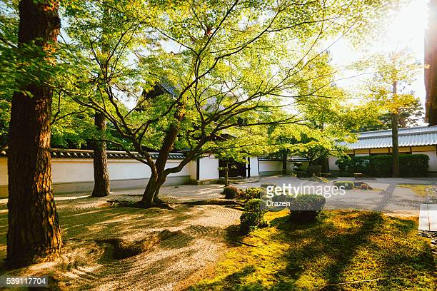 shrine in kyoto in beautiful summer sunset - shrine stock pictures, royalty-free photos & images