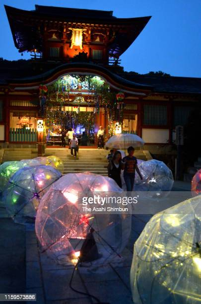 Shrine maidens prepare for the Tanabata Festival on July 1, 2019 in Hofu, Yamaguchi, Japan. Tanabata is a Japanese star festival celebrated on July 7...