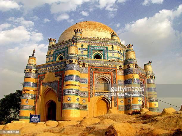 shrine of bibi jawindi, uch sharif, pakistan. - multan stock photos and pictures