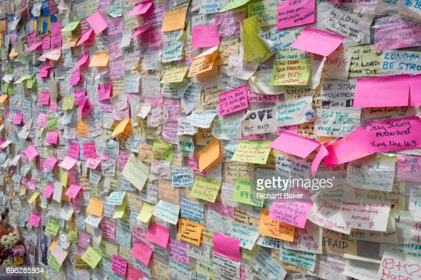 A shrine of flowers and compassionate messages continue to grow ten days after the terrorist attack on London Bridge and Borough Market on 12th June...