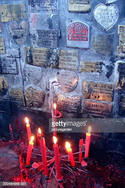 shrine of gauchito gil - gauchito gil fotografías e imágenes de stock