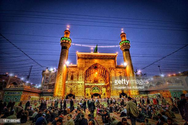 shrine of imam ali bin aby taleb (a.s) - najaf stock pictures, royalty-free photos & images