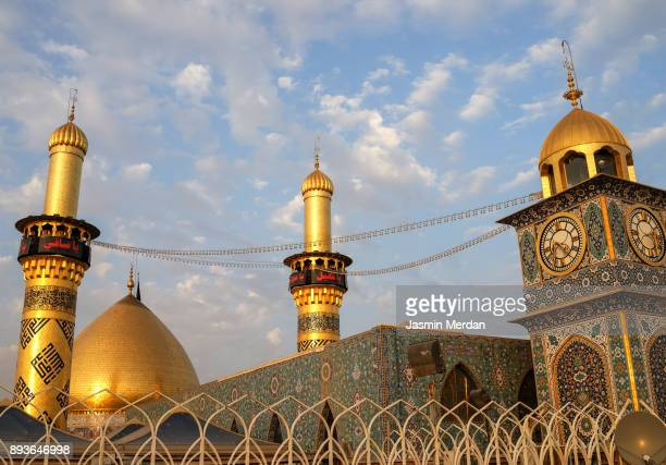shrine of imam hussain ibn ali in karbala iraq - arbaeen stock photos and pictures
