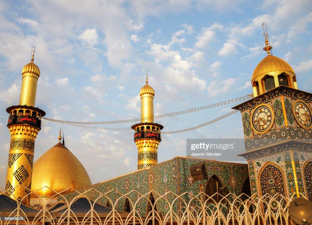 Shrine of Imam Hussain ibn Ali in Karbala Iraq : Stock Photo
