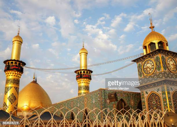 shrine of imam hussain ibn ali in karbala iraq - najaf stock pictures, royalty-free photos & images