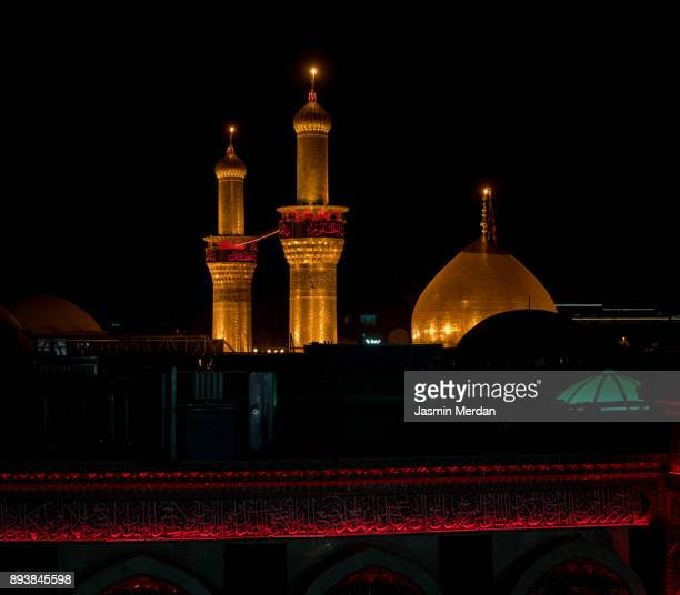 shrine of imam hussain ibn ali in karbala iraq - karbala stock pictures, royalty-free photos & images