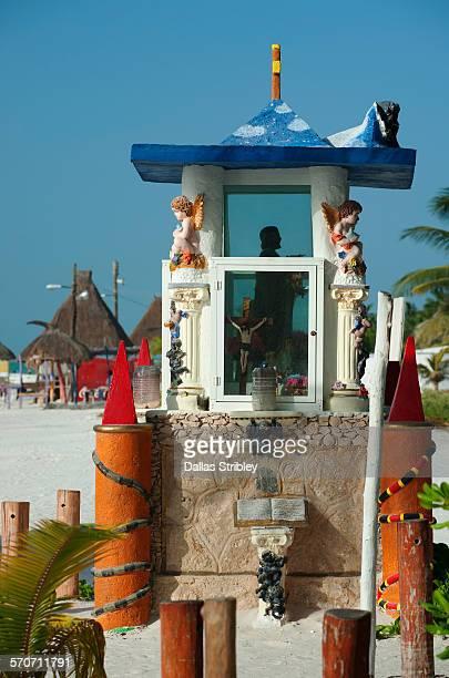 Shrine on the beachfront, Holbox Island