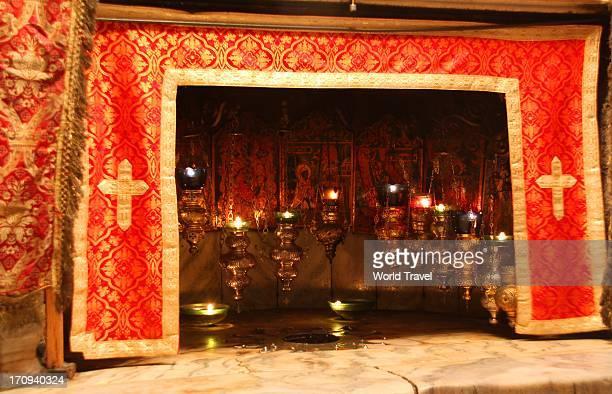 shrine - bethlehem west bank stock pictures, royalty-free photos & images