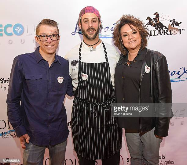 Shriners Hospital for Children patient ambassador Marius Woodward and Chef Adam Kreisel and Director of Marketing and Public Relations at Shriners...