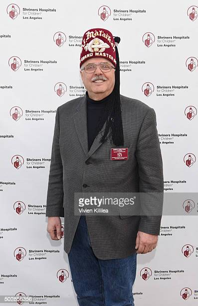 Shriners Hospitals for Children Los Angeles board chairman David R Doan attends Celebrities Decorate The Shriners Rose Parade Float Shriners...