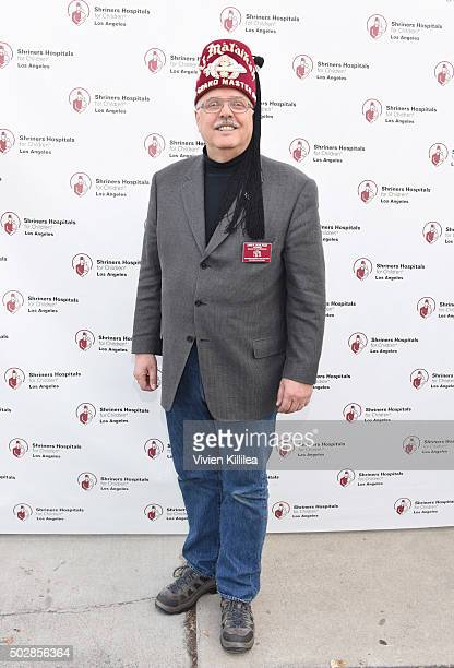 Shriners Hospitals for Children - Los Angeles board chairman David R. Doan attends Celebrities Decorate The Shriners Rose Parade Float - Shriners...