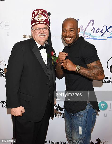 Shriners Hospitals for Children Los Angeles Board Chairman David R Doan and boxer Brian Reynolds attend ECOLUXE Presents Salute To OSCAR Noms Party...
