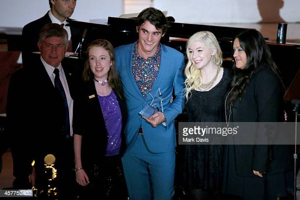 Shriners International Imperial Potentate Dale Stauss Starbright World Teen Brianna honoree RJ Mitte Starbright World Teen Kara and Director/producer...
