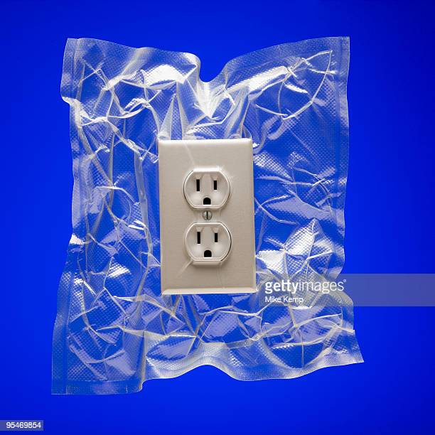 Shrink wrapped electricity receptacle