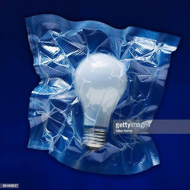 Shrink wrapped light bulb