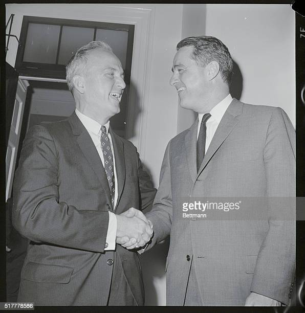 Shriver Meets with the Minority Washington Sargent Shriver Pres Johnson's choice to lead the war on poverty met in closed session today with ten GOP...